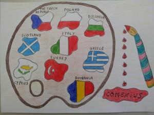 """Italy logo """"R.A.De Magistris"""" 5th A class"""